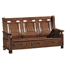 文創集 亞梭典雅風樟木實木三人座收納式沙發椅(收納抽屜設置)-191x72x102cm免組