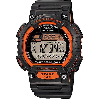 CASIO 卡西歐 Solar 太陽能運動錶-橘(STL-S100H-4A)