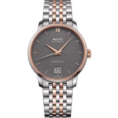 MIDO 美度 Baroncelli Big Date 永恆經典機械錶-M0274262208800/灰40mm