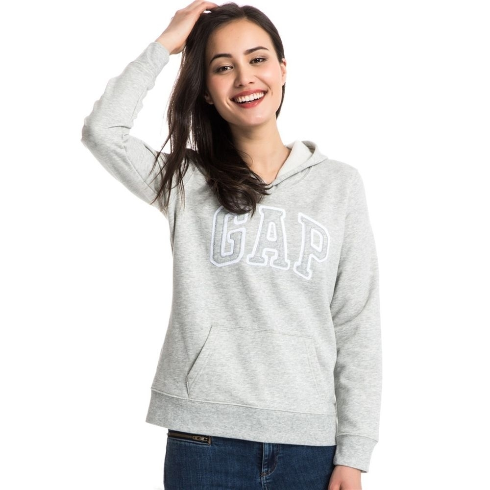 GAP 女生 連帽長袖T恤 灰 1446