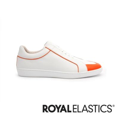 ROYAL ELASTICS Duke 白橘真皮時尚休閒鞋 (男) 05291-100