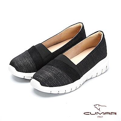 CUMAR率性柔美 - 輕量化異材質拼接休閒平底包鞋