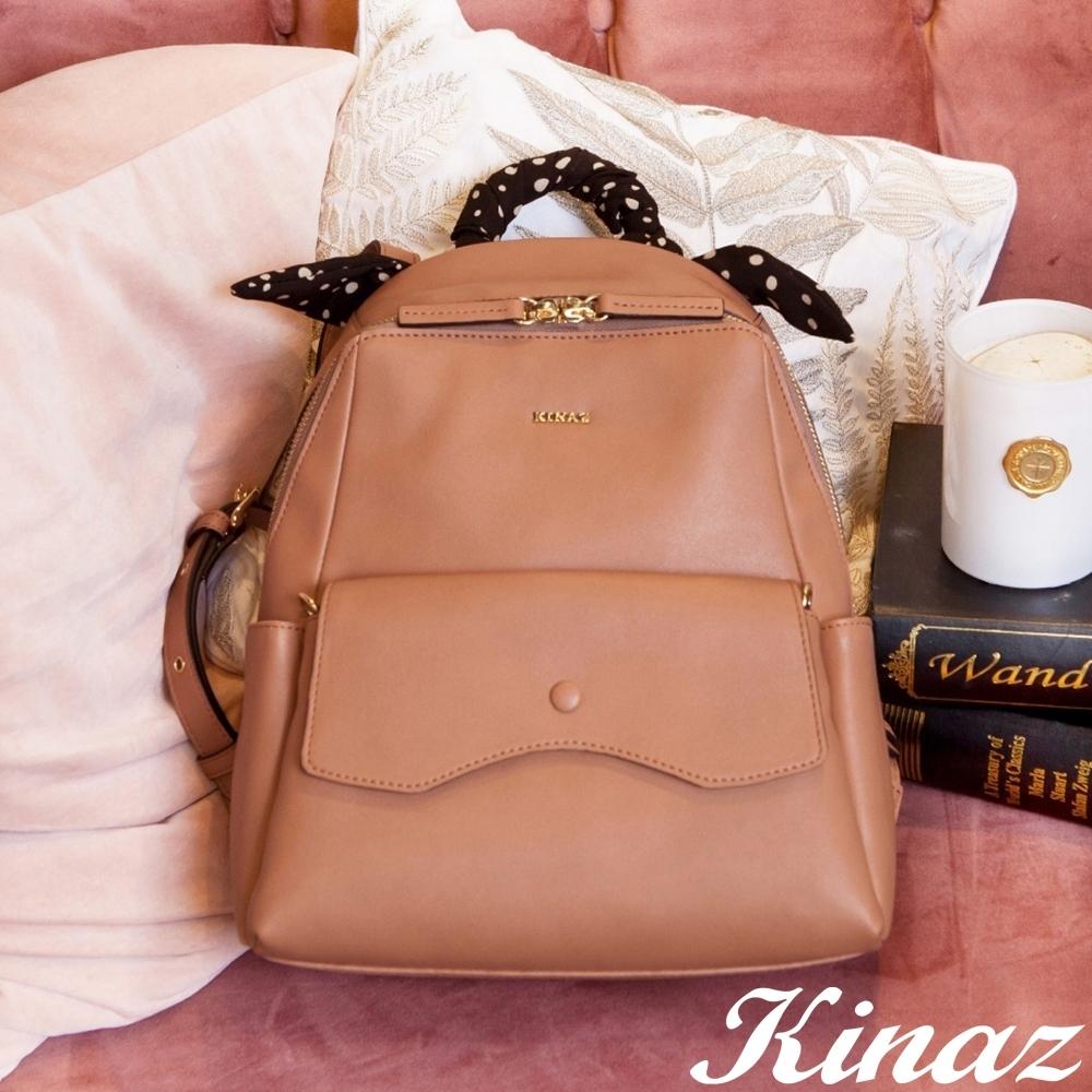 KINAZ 大容量附綁帶子母斜背後背包-躱貓貓系列-快