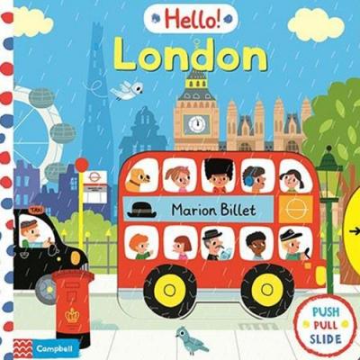 Hello London 倫敦探險硬頁操作推拉書