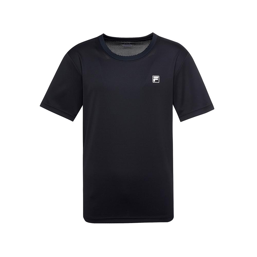 FILA 男抗UV吸濕排汗T恤-黑 1TEU-1303-BK