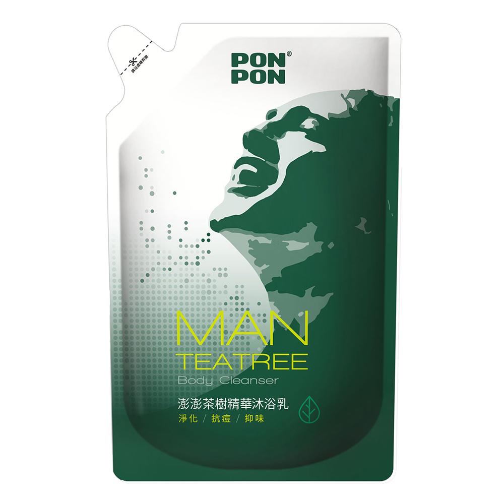 澎澎MAN 茶樹精華沐浴乳-補充包700g