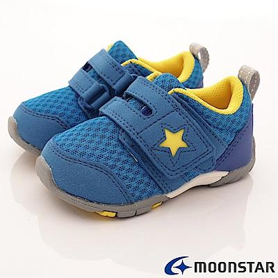 日本月星頂級童鞋 機能抗菌款 EI85藍(寶寶段)