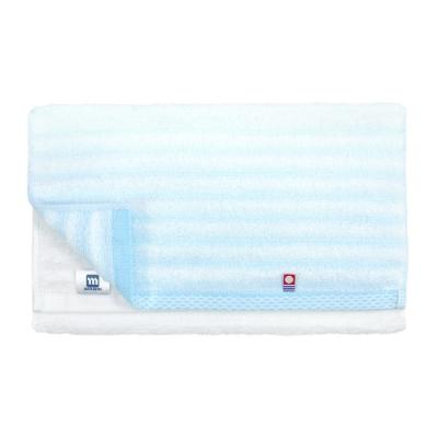 日本丸真 今治漸層毛巾-條紋藍