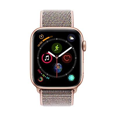 Apple Watch Series 4(GPS+網路)44mm金色鋁金屬錶殼+粉沙色錶環