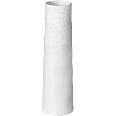 《RADER》詩文白瓷花瓶