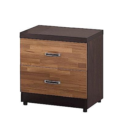文創集 波哥利 時尚1.6尺木紋床頭櫃/收納櫃-48x40x53cm-免組