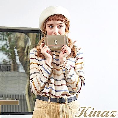 KINAZ x PEANUTS™ 清新漩渦三折中夾-糖霜歐蕾-好日子系列-快