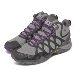 Merrell 戶外鞋 Siren 3 Mid GTX 女鞋 登山 越野 耐磨 黃金大底 防潑水 中筒 灰 紫 ML033892