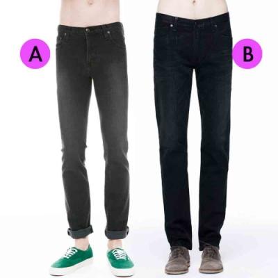 [時時樂限定]BRAPPERS 男款 彈性窄直筒褲(兩款選)