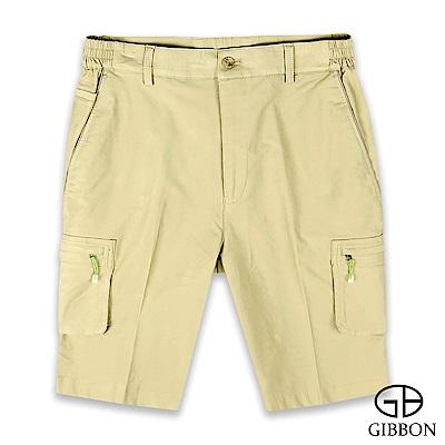 GIBBON 彈力棉質鬆緊短褲-二色