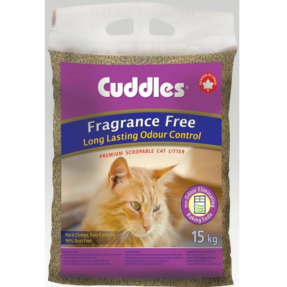 加拿大Cuddles諾美利加七星級呵護凝結香味貓砂-無香味 15kg 加強版凝結配方