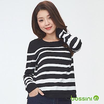bossini女裝-圓領針織線衫04黑