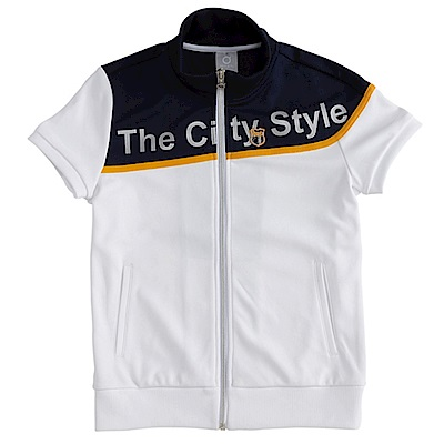 【TOP GIRL】城市風情針織立領短袖外套-經典白