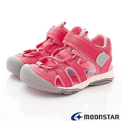 日本月星頂級童鞋 SUGAR護趾涼鞋 FO854粉(中小童段)