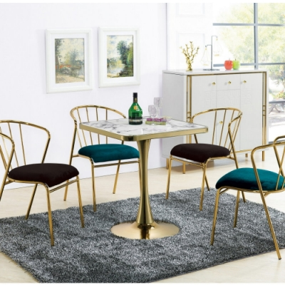 MUNA 舒爾茨2.3尺石面方桌(不含椅) 70X70X76cm