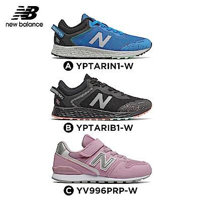 New Balance 童鞋_中性_藍色/黑色/粉紅