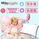 Milo&Gabby 動物好朋友-超細纖維防蹣大枕心+枕套組(NANCY貓咪)