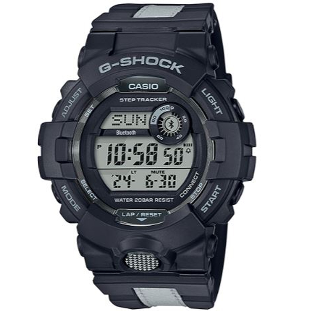G-SHOCK  G-SQUAD系列藍芽夜間運動休閒腕錶(GBD-800LU-1D)/48.6mm