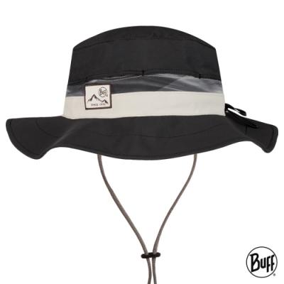 【西班牙BUFF】 可收納圓盤帽-極簡黑墨