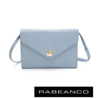 RABEANCO 台灣限定款-ENO可拆式背帶手拿/斜背皮夾包 淺藍