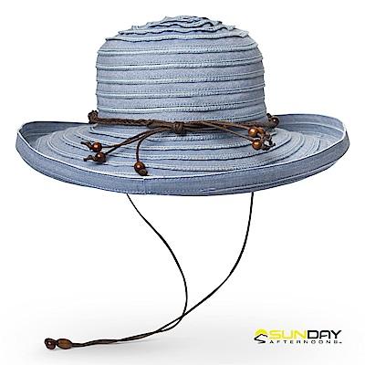【美國Sunday Afternoons】女 抗UV透氣捲邊葡萄園帽 藍色馬鞭草