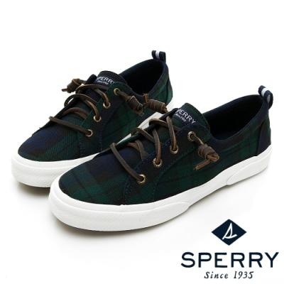 SPERRY 復古風尚經典帆布鞋(女)-深藍/綠