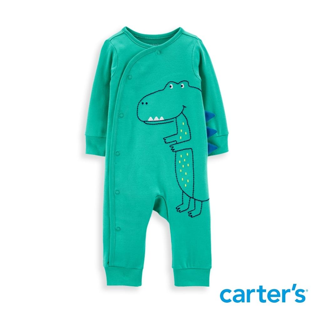 【Carter's】 抱抱恐龍綠色長袖連身裝(6M-9M) 任選 (台灣總代理)