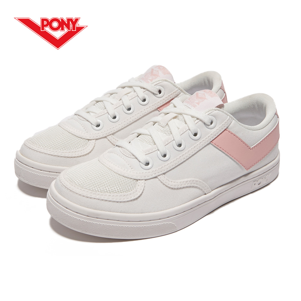 【PONY】Slam Dunk 個性風格滑板鞋款-女-白粉