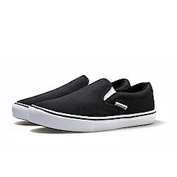 【ZEPRO】男子SLIP-ON系列輕便時尚休閒鞋-經典黑