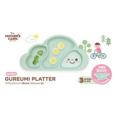 韓國 【Mother s Corn】 雲朵分隔矽膠餐盤(湖水綠)