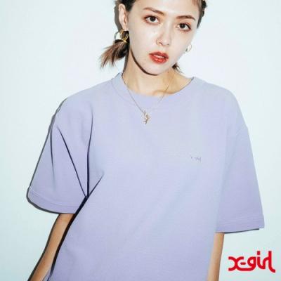 X-girl DROP SHOULDER S/S TOP短袖T恤-亮紫