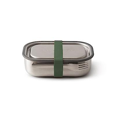 英國BLACK+BLUM不鏽鋼滿分便當盒(橄欖綠/附餐具)