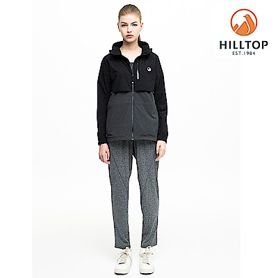 【hilltop山頂鳥】女款輕量WS防風超潑水抗UV外套H22FV0黑美人