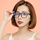 ALEGANT簡約造型輕量亮黑方框UV400濾藍光眼鏡 product thumbnail 1