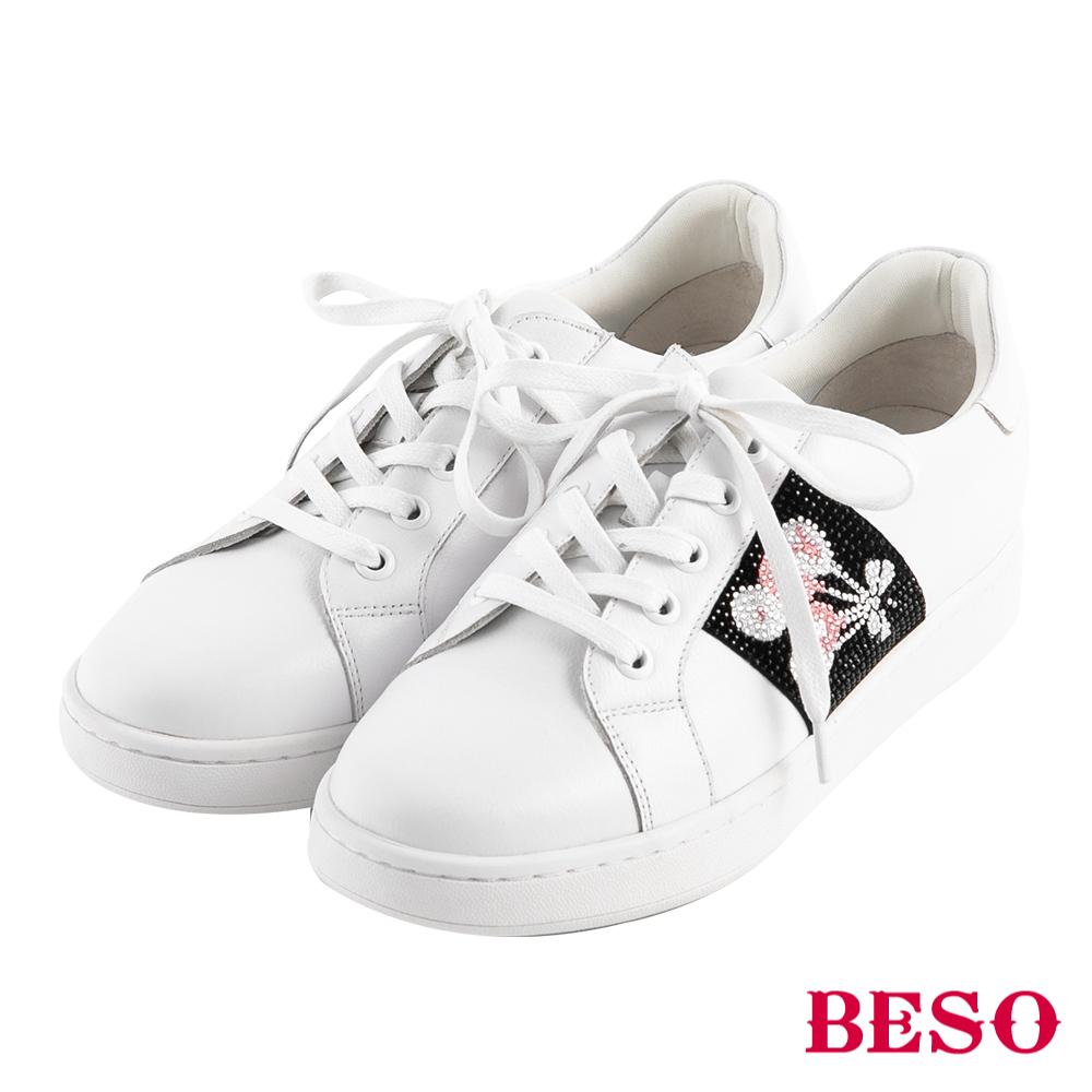 BESO 潮流頑童 不對襯綁帶休閒鞋~白