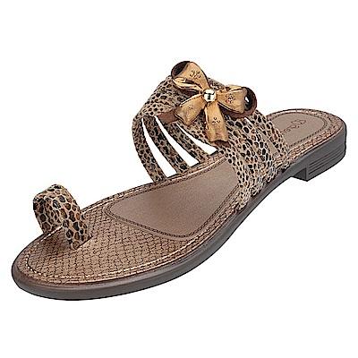 GRENDHA 希臘風情平底鞋-褐