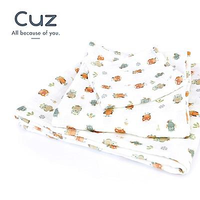 【Cuz】貓頭鷹毛線帽(紗布巾)115cm