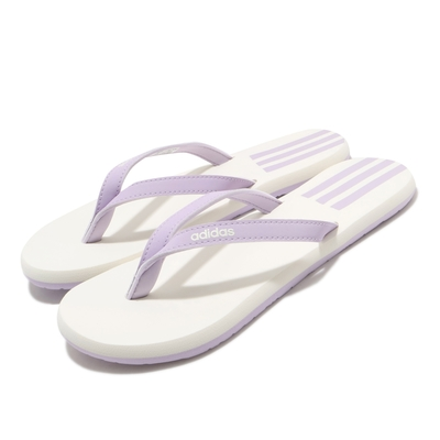 adidas 夾腳拖 Eezay Flip Flop 套腳 女鞋 愛迪達 夏日 輕便 人字拖 舒適 紫 白 EG2037