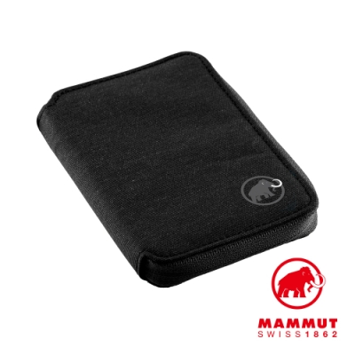 【Mammut 長毛象】Zip Wallet Melange 休閒短夾 黑色 #2520-00720