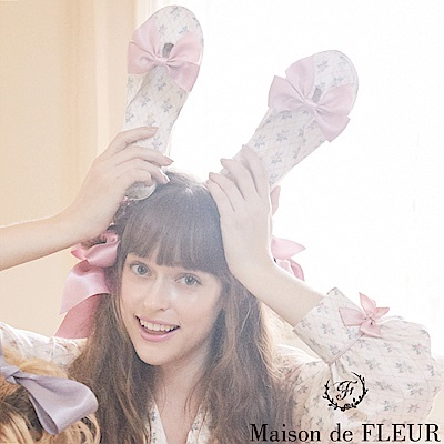 Maison de FLEUR 菱格碎花圖案拖鞋