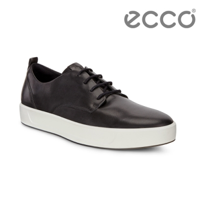ECCO SOFT 8 M 簡約休閒鞋 男-黑
