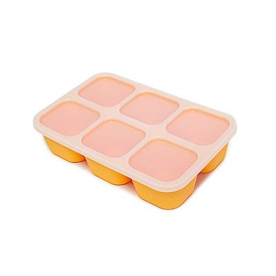 【MARCUS&MARCUS】動物樂園造型矽膠副食品分裝保存盒-長頸鹿(黃)