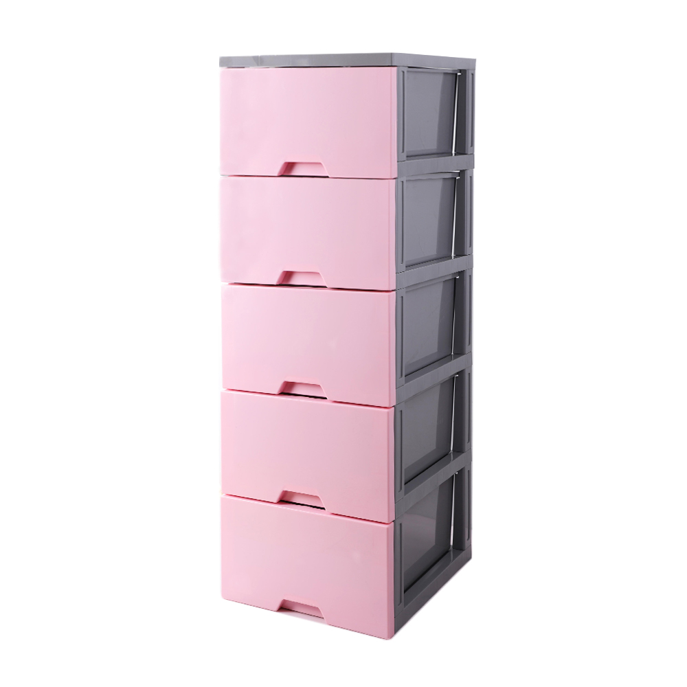 【HOUSE】馬卡龍玩具衣物抽屜式五層收納櫃(三色可選)