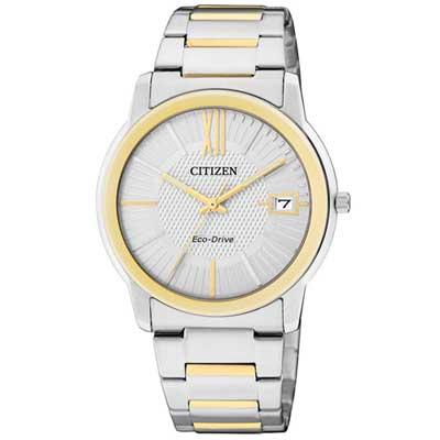 CITIZEN 貴氣半金雙色女錶(FE6014-59A)-白/34mm