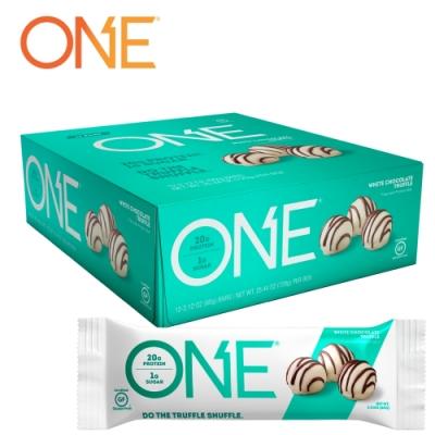 【美國 ONE Brands】ONE Bar 牛奶乳清蛋白棒 White Chocolate Truffle(白巧克力松露/12x60g/盒)